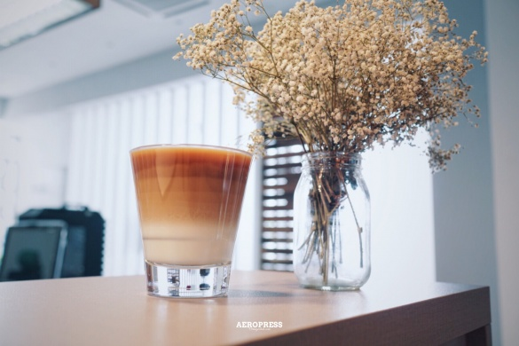 Homemade aeropress latte coffee, latte, latte coffee, cold brew coffee, cold brew coffee, coffee, 咖啡, Orangechoh