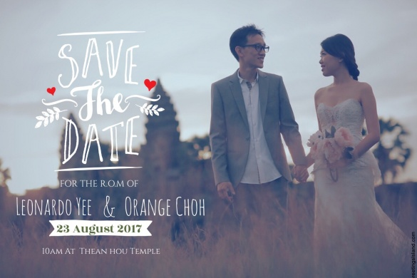 The best invitation card idea, Leonardo Yee & Orange Choh R.O.M, Happy Wedding, Wedding, R.O.M