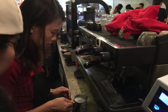 latte art, coffee art, steamed milk