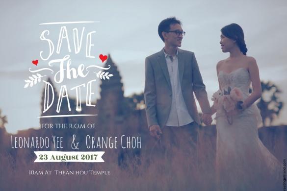 The best invitation card idea, Leonardo Yee & Orange Choh R.O.M, Happy Wedding, Wedding, R.O.M